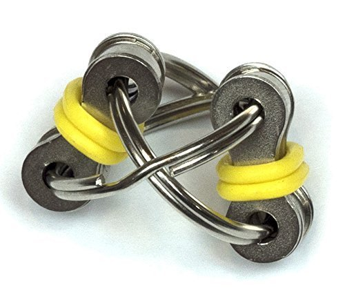 UNIQUE Flippy Chain Fidget Toy Stress Reducer - Perfect For ADD, ADHD, Anxiety, and Autism (Black) -