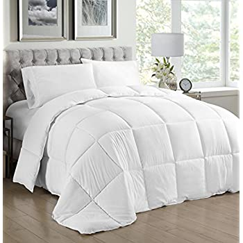 Amazon.com: White Queen Comforter Duvet insert (88x90 inch) - Down ... : white quilted comforter - Adamdwight.com
