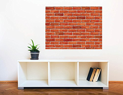 Removable Wall Sticker Wall Mural Seamless Red Brick Wall Creative Window View Wall Decor