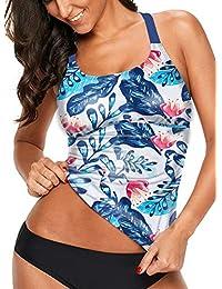 81bacfd3fe5 Womens Striped Printed Strappy Racerback Tankini Swim Top No Bottom S - XXXL