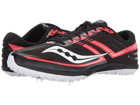 (サッカニー) SAUCONY メンズ陸上競技用シューズクロスカントリー靴 Kilkenny XC7 [並行輸入品] B07F31NCLW 12.5 (30.5cm) D - M ブラック/レッド