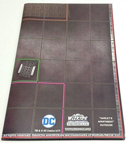 DC Heroclix Harley Quinn & The Gotham Girls Harley's Apartment/Roller Derby Double Sided - Map Dc Heroclix