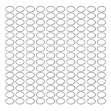 uxcell 150Pcs 24mmx29mmx1.5mm Aluminum Motorcycle Hardware Drain Plug Washer