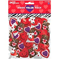 Valentine's Day Assorted 3-D Rubber Eraser, 24 CT. | Party Favor