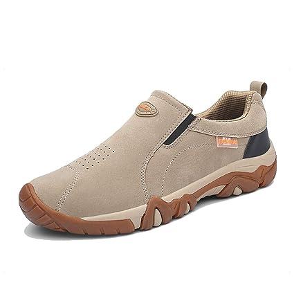 Zapatillas de Senderismo para Hombre, sin Cordones, Transpirables, para Senderismo y Camping