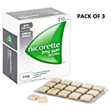 Nicorette Chewing Gum Orginal 2mg Quantity 210 - Pack Of 3