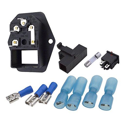spade plug wiring diagram klipsch headphone plug wiring diagram urbest male power socket 10a 250v inlet module plug 5a ...