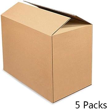 Dray 5 Paquetes de mudanza Cajas de Papel, 5th Floor Gran tamaño Almacenamiento Extra Duro Resolver Caja de Embalaje Adecuado para el Embalaje de Regalo en Movimiento Paquete parcela Transporte: Amazon.es: Electrónica