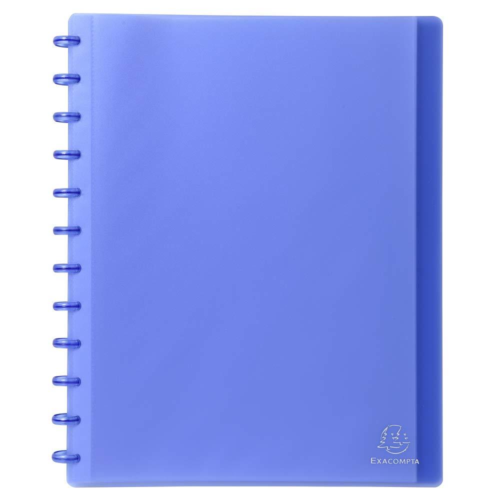 Exacompta 86352e–Cartella con 30buste con anelli, A4, colore: blu trasparente