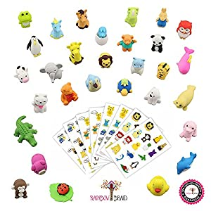 Premium 30 Animal Collectible Set of Adorable Japanese Style Novelty Erasers - Amazing Variety with No Duplicates - Puzzle Toys Best for Party Favors w/ Bonus 120 Collectible Animal Stickers