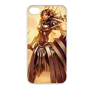 Leona-001 League of Legends LoL case cover for Apple iPhone 4 / 4S - Plastic White