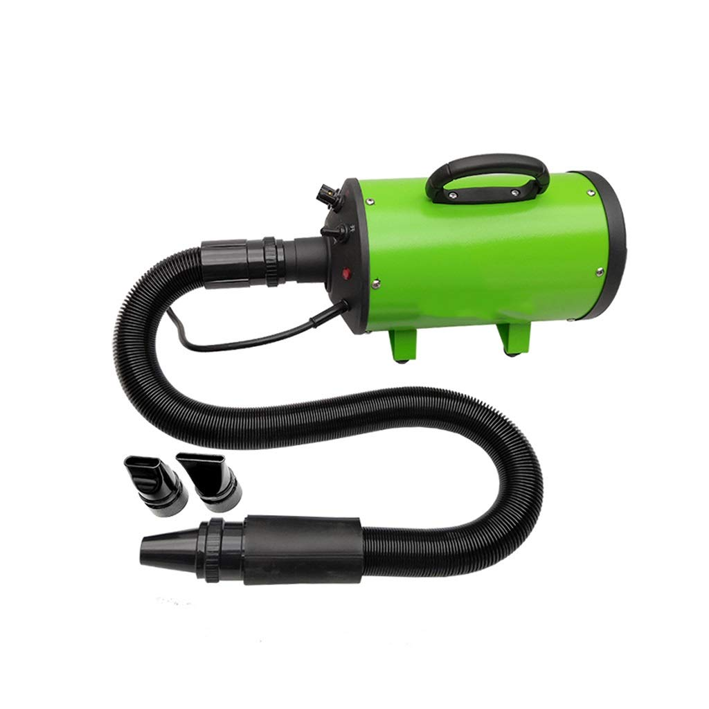 Green SN Pet Supplies 2200W Pet Hair Dryer Dog, Powerful Quiet Dog Dryer With Variable Speed With 3 Nozzles For Dogs And Cats (color   Green)