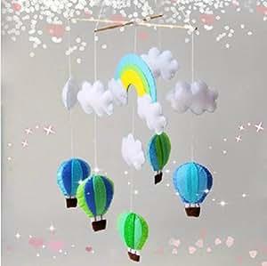 DIY Material, Aimell Hot Air Balloons Cloud Baby Mobile Nursery Crib Decoration Kit Handmade Wind Chime