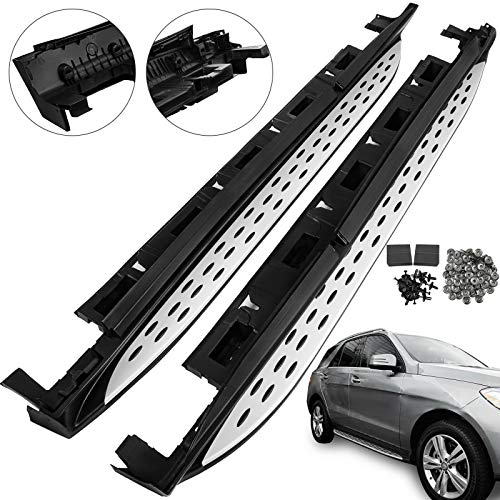 (Mophorn Running Board Aluminum Side Step Nerf Bar for 2012-2018 Mercedes Benz W166 M ML ML350 GLE with Necessary Mounting Hardware )
