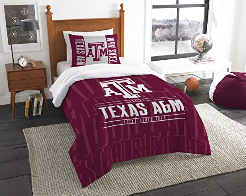 The Northwest Company Officially Licensed NCAA Texas A&M Aggies Modern Take Twin Comforter and Sham