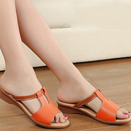 portano i piani D sandali pattini pistoni dimensioni Le dei formato donne femminile freddi di Pantofole estive facoltativi modo 6 facoltativo Donna colori Pattini i EU36 B Colore trascinando ZWYpqa