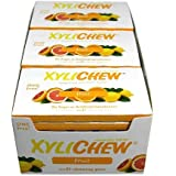 Xylichew Fruit Counter Display Chewing Gum, 12 Count
