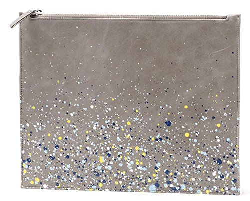 MAISON MARTIN MARGIELA PARIS Paint Splatter Grey Leather Zip Pouch / - Martin Maison Margiela 11