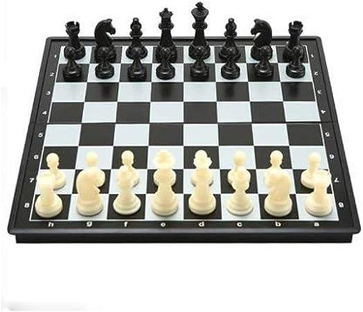 XSWZAQ Juego de ajedrez cuadrado: un tablero de ajedrez que mueve las piezas de ajedrez de