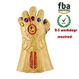 Avengers Infinity War Cosplay Thanos Mask Infinity Gauntlet Thanos Gloves Latex(Thanos Gloves + Infinity Gaunllet) (Yellow, Gloves)