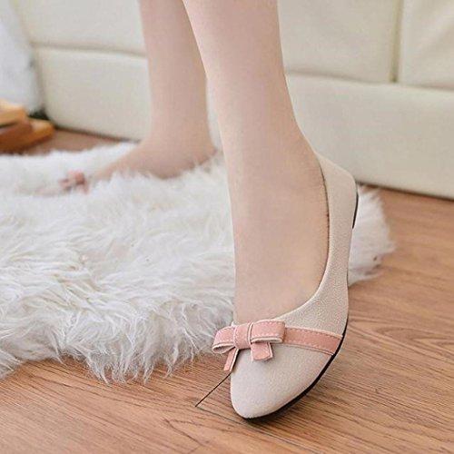 Ouneed Womens Ladies Flat Leisure Sweet Darling Students Shoes Beige XbQXgFlk0