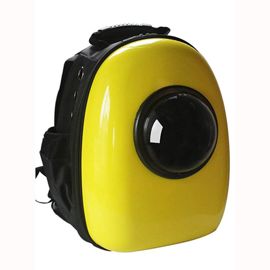 A Pet bag out portable cabin dog cat cage bag cat shoulder bag cat bag space bag dog bag yellow