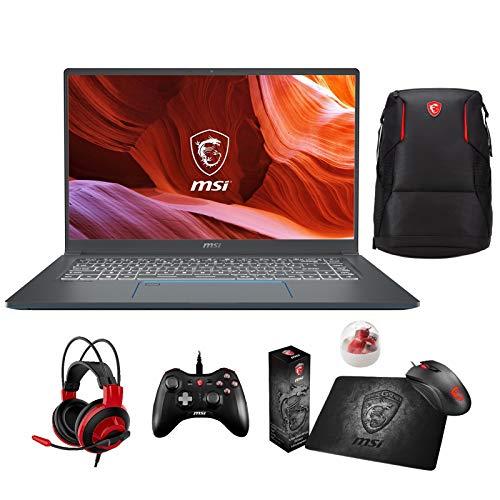 """لپ تاپ حرفه ای MSI Prestige 15 A10SC-011 Enthusiast (i7-10710U، 64 GB RAM، 1TB NVMe SSD، NVIDIA GTX 1650 4GB، 15.6 """"Full HD، Windows 10 Pro)"""
