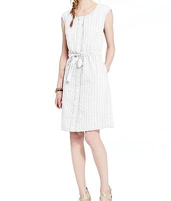 423a847b Tommy Hilfiger Cotton Seersucker Tie-Waist Shirt Dress - White (Med ...
