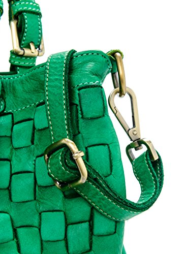 Vintage Model Vert Ira Italy del Made Valle main femme Vrai à in Moutarde cuir Caraibica Sac qU8zqw