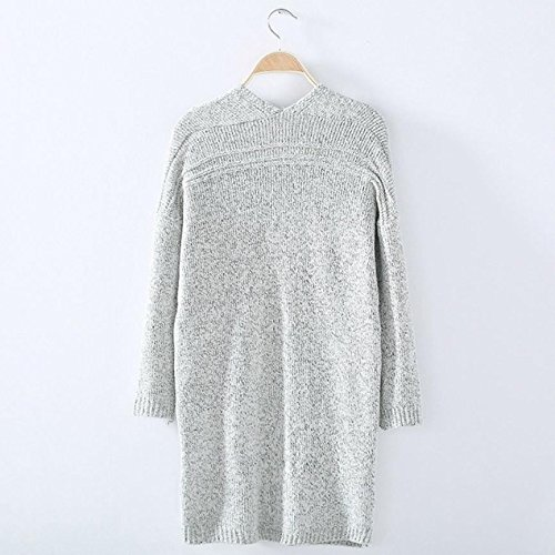 Gris Cardigan Hiver Femme Oversized Overdose D Casual V Pull Automne Col xTxSapqf