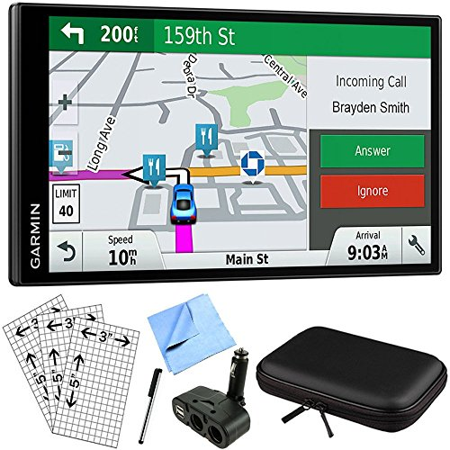 Garmin DriveSmart 61 NA LMT-S Advanced Navigation GPS with Smart Features Deluxe Bundle (Garmin Live Traffic)