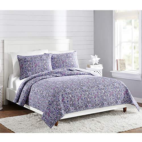 (Vera Bradley Kaleidoscope Quilt Full/Queen Purple)