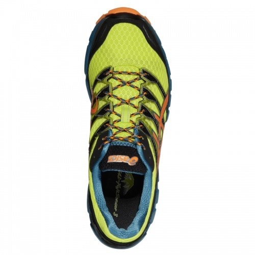 Asics Scarpe Gel FujiSensor 3, Lime/Orange/Lake Blue
