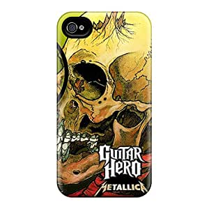 Iphone 4/4s Hard Back With Bumper Cases Covers Guitar Hero Metallica