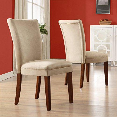 Home Creek Julian 2-Piece Peat Parson Side - Microfiber Chair Peat