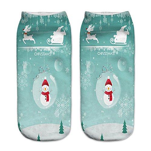 1 Paar / 13 Paar Vrouwen Warme Fuzzy Pluizige Sokken 3d Gedrukt Kerst Vrouwen Casual Leuke Sokken Super Zachte Gezellige Home Slipper Sokken Door Faber3 (m) Een