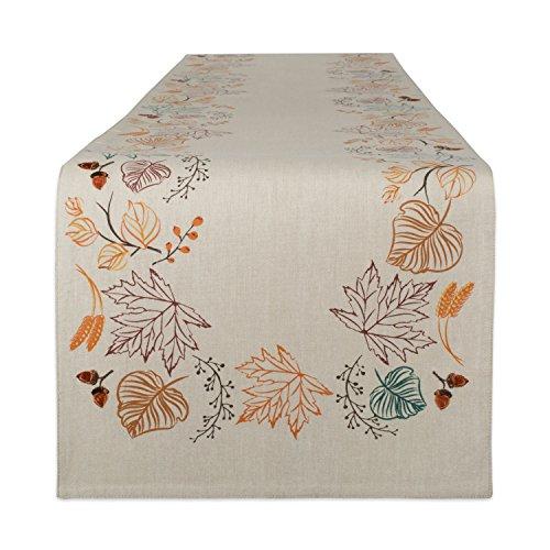 Autumn Leaves Table Runner (DII Cotton Table Runner, Autumn)