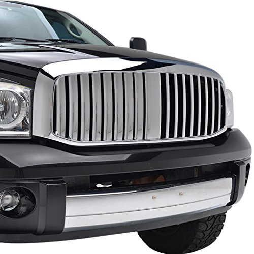 EAG 06-08 Dodge Ram 1500/06-09 Dodge Ram 2500/06-09 Dodge Ram 3500 Packaged Grille ABS Chrome Vertical ()