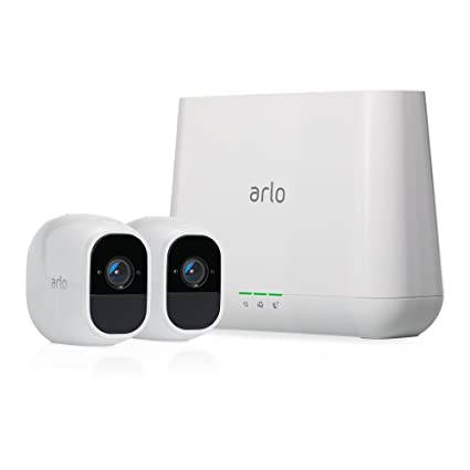 Arlo Pro 2 by NETGEAR Home Security Camera System (2 pack) with Siren, Wireless, Rechargeable, 1080p HD, Audio, Indoor or Outdoor, Night Vision, Works with Amazon Alexa (VMS4230P) Spy Cameras at amazon