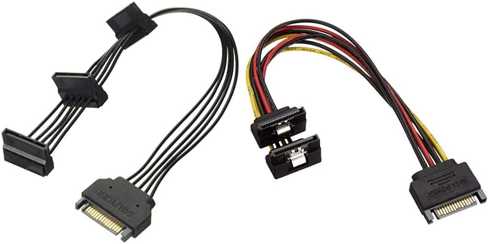 AINEX SATA Power 3 Branch Cable Under The L-Type Connector S3-1504SALA 23cm
