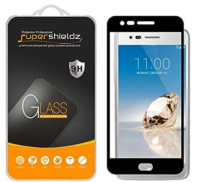 LG Aristo Tempered Glass Screen Protector, [Full Screen Coverage][3D Curved Glass] Supershieldz, Anti-Scratch, Anti-Fingerprint, Bubble Free (Black)