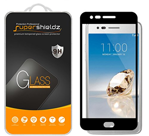 Supershieldz for LG Aristo Tempered Glass Screen Protector, [Full Screen Coverage][3D Curved Glass] Anti-Scratch, Bubble Free, Lifetime Replacement Warranty (Black)