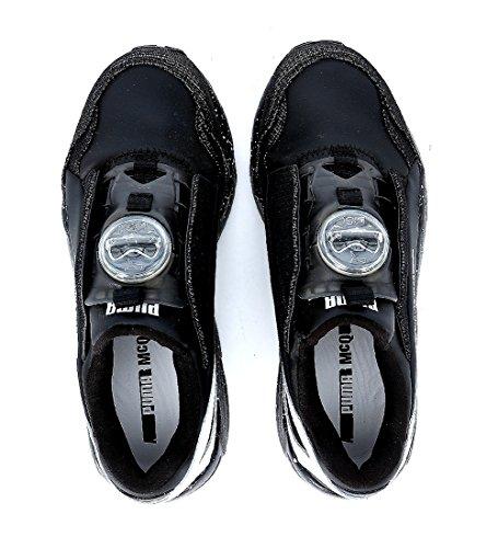 Sneaker Alexander McQueen PUMA en neoprene negro y blanco Negro
