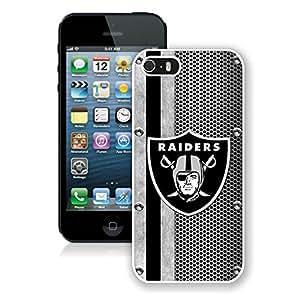 Oakland Raiders 04 White Hard Shell iPhone 5 5S Phone Case