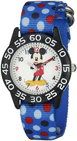 Disney Mickey Mouse Kids' W002366 Mickey Mouse Analog Display Analog Quartz Blue Watch