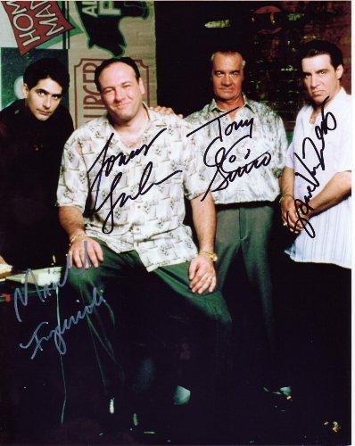 The Sopranos Cast Signed James Gandolfini Autographed 8 X 10 Reprint Photo - Mint Condition from Nostalgic Cards & Autographs