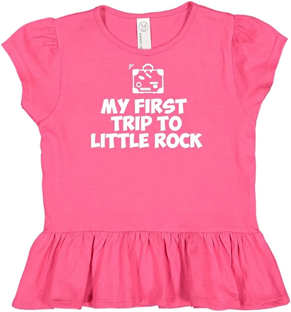 Mashed Clothing My First Trip to Little Rock Toddler//Kids Ruffle T-Shirt