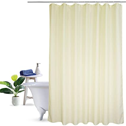 UFRIDAY Eco Friendly Shower Curtain Poly Fabric Water Repellent With Reinforced Top Holes Everyday