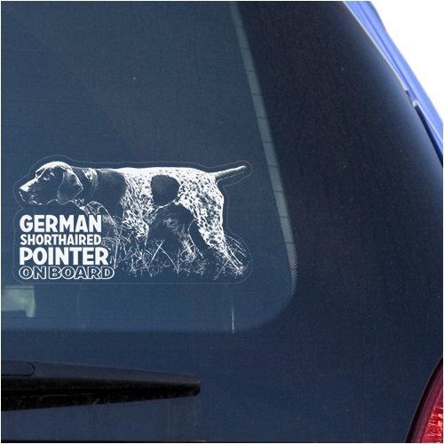German Shorthaired Pointer Clear Vinyl Decal Sticker for Window, GSP Hunting Dog Sign Art Print