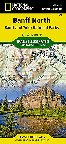Banff North [Banff and Yoho National Parks] (National Geographic Trails Illustrated Map)